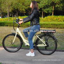Women Bicycle 250W 350W Electric City Bicycle Urban Bike with lithium battery 8.8ah and controller 26inch wheel