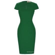Grace Karin Ladies Dark Green Hips Wrapped Cap Sleeve Retro Vintage Pencil Bodycon Dress CL008947-5