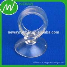 Coupe d'aspiration transparent transparente à vide avec anneau-tige