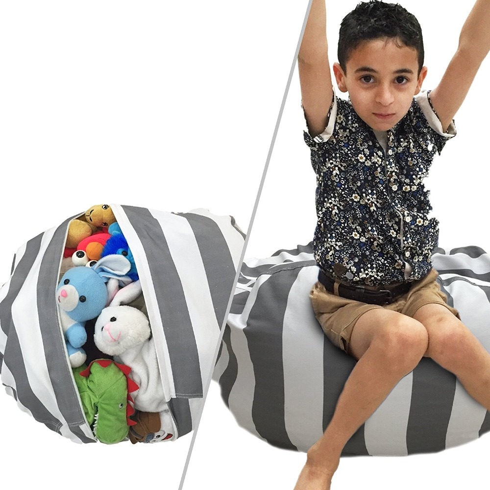 Stuffed Animal Storage Bean Bag Cover With