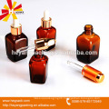 Square glass dropper bottle with 15ml 30ml