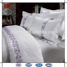 Подгонянный логос вышивки Горячий продавать случай подушки гостиницы белого хлопка