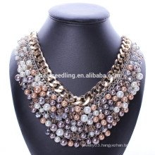Big brand luxury black pearl necklace with crystal