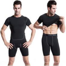 Tee-shirt de sport pour hommes Vêtements de fitness Activewear manches courtes
