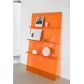 Modern Acrylic Ladder Bookcase Orange