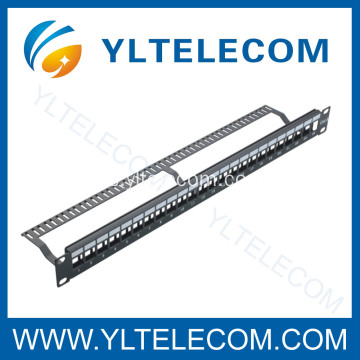 24port Patch en blanco Panel con Cable Manager