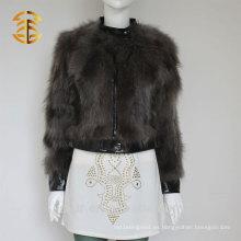 Chaqueta de cuero de la piel del invierno del Fox nuevo gris fresco del estilo para las mujeres