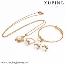 63531-Xuping gros ensembles de bijoux en perles plaqué or, bijoux de mode