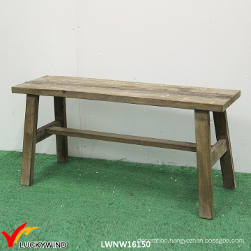 Antique French Solid Wooden Bench for Sale