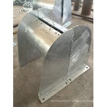 Pièces galvanisées de fabrication en métal galvanisées par immersion chaude pour le cas de câble d'ascenseur
