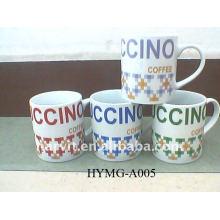 2014 Ceramic Promotional Mug/Letter Printing Mugs/Wholesale Hot Sale Water Mugs Cup