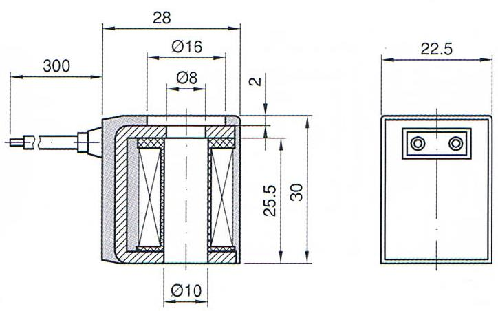 Dimension of BB10030028 Solenoid Coil: