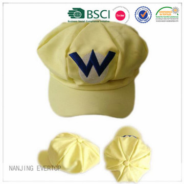 Custom 100% Cotton Embroidery Octagonal Cap