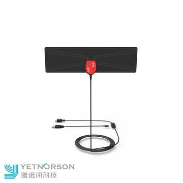 ATSC DVB-T2 HDTV Indoor Rectangle Flat Digital TV Antenna VHF170 240mhz UHF470 870mhz Ubiquity
