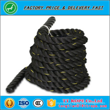 100% Polyester Material and Gym rope , 3 strands twisted Type 1.5 inch and 2 inch battle rope
