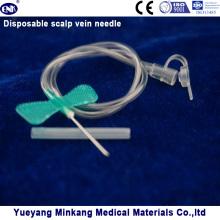 Aguja desechable de la vena del cuero cabelludo 21g (ENK-TPZ-016)