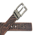 Hot Sale Men Emboss Leather Belt with Pin Buckle
