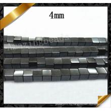 Естественный шарик Gemstone кубика Hematite кубика, черные ювелирные изделия ручной работы камня (GB0123)
