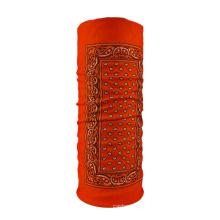 High elastic cheap promotion custom logo 100% polyester seamless bandana for sale