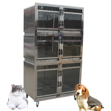 Chinese manufacturer Stainless Steel Big Pet Dog Transport and Injection Veterinary Animal Cage for Hot-selling
