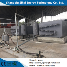 Waste tire turning to fuel oil machine