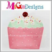 Hot Sale en gâteau en céramique en forme de plaque faite à la main