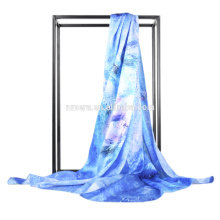Inner Mongolia manufacturers spot wholesale silk satin winter fashion lady SSD0009 elegant printing warm silk scarf