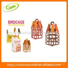 Set de fourchette à cage d'oiseaux, cure-dents en forme d'oiseau