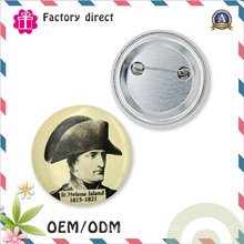 Round 58mm SGS Factory Promotional Item Tin Button Badge