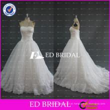 ED Bridal Sweetheart Ruched Bodice Lace Appliqued Beads Hemline Organza Vestidos de casamento China