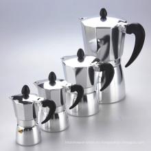 Pote italiano de aluminio de Moka del fabricante de café de la inducción de la venta caliente almacenada
