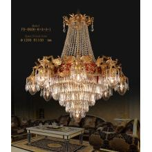 Classical Brass with Crystal Luxury Chandelier Pendant Lamp (FD-0606-8+4+4+1)