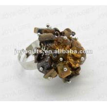 Enrole anéis com olho de tigre Chip pedra