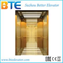 Ce Golden Color et Stable Passenger Lift Without Machine Room