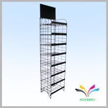 supermercado piso de pie gradas acero metal pantalla de almacenamiento de rack