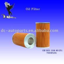 Elemento filtrante de lubrificante 001 184 49 25 Para Mercedes-Benz