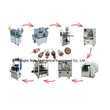 Ligne de production de moteur électrique à rotor rotatif automatique