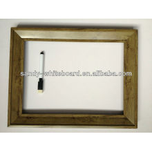 Tableau blanc décoratif avec équipement d'horloge / tableau blanc magnétique avec cadre en bois