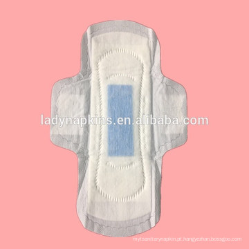 Atacado descartável Ultra fino algodão topsheet Anion absorventes higiênicos