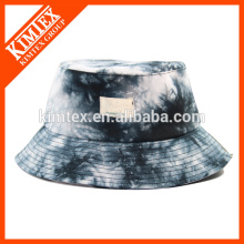 Custom cheap floral revers bucket hats and cap with woven label patch