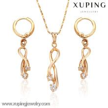 62927- Xuping Female Diamond Charm Bridal Fashion Jewelry Sets