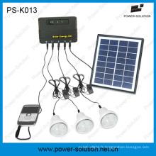 Nouveau système de maison à éclairage solaire Portable 2015 avec 3 LED lampes