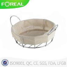 Round Chromed Metal Wire Bread Basket