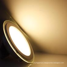 High brightness 3W 4W 6W 9W 12W 15W 18W glass ultra-thin led recessed ceiling panel light