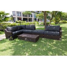 Juego de sofá modular al aire libre de Rattan