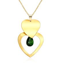Heart Shape Pendant Necklace Women Gold Necklace