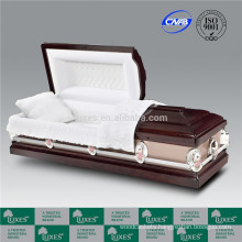 LUXES US Cheap Burial Wooden Funeral Cremation Casket Coffin