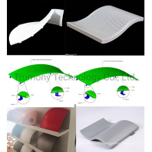 2mm 2.5mm 3mm Powder Paint PVDF Hyperboloidal Double Curved Surface Aluminium Soild Panel Aluminum Sheet Use for Decorative Outdoor Curtain Wall Cladding