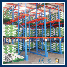 Drive In/Drive Through Warehouse Storage Rack