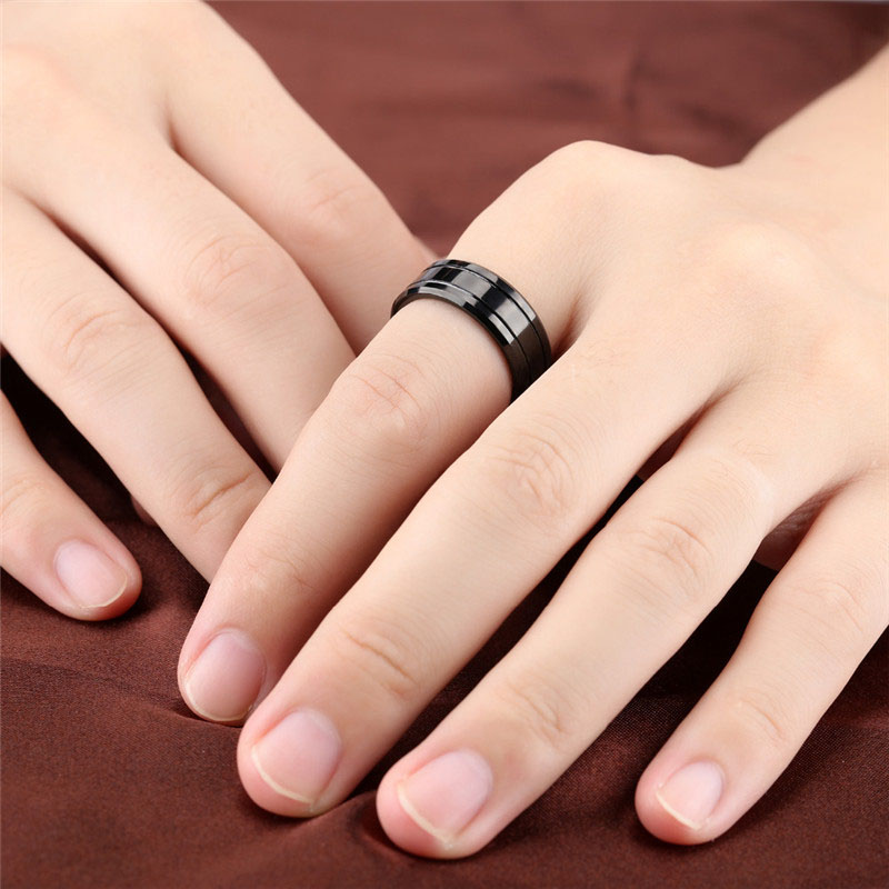 Black Tungsten Carbide Wedding Bands